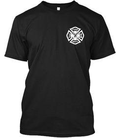 bf0bb5517 Fire Dept Black T-Shirt Front