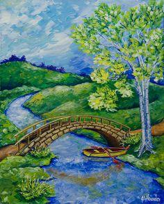 Tranquility by Jill Alexander Texture Water, Vibrant Colors, Colours, Fine Art America, Art Deco, Wall Art, Landscape, Studio, World
