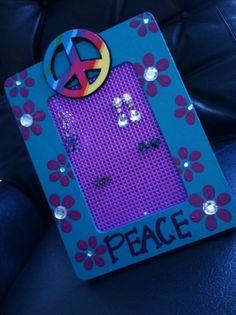 Girl or Teen Wooden Earring Holder - Peace Theme on Etsy, $18.00