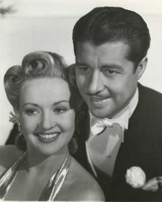 """Betty Grable (1916-1973) and Don Ameche (1908-1993) in """"Moon Over Miami"""", 1941"""