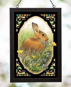 Bunny Stained Glass Art Terry Redlin, Easter Season, Bedroom Art, Stained Glass Art, Wildlife Art, Art Pages, Hanging Art, Nature Scenes, Color Themes