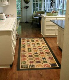 House N Star Floorcloth These Colors Are Even More To My Liking; Colorful,  But. Floor ClothFloor MatsCloth ...