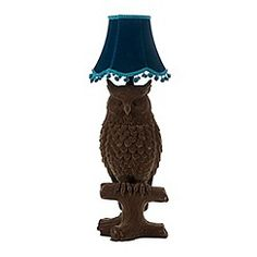 Abigail Ahern/EDITION - Designer brown flocked owl lamp
