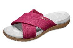 8f2283c34 Crocs Capri Shimmer Cross Band Paradise Pink Oyster Slide Comfort Sandals