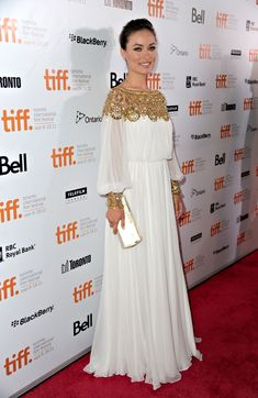 "Olivia Wilde in Marchesa at the 2011 Toronto International Film Festival festival, Olivia Wilde in ""Butter"" Premiere - 2011 Toronto International Film Festival Olivia Wilde, New Dress Pattern, Dress Patterns, High Fashion Dresses, Hijab Fashion, Marchesa, Elegant Dresses, Nice Dresses, Toronto Film Festival"
