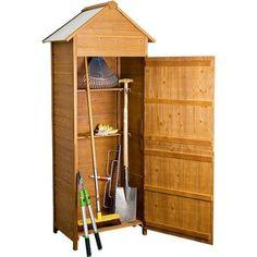 Rotfuchs® GTS01 XL Wooden Garden Shed Cabinet Storage for Tools Weatherproof Fir Gardenhouse: Amazon.co.uk: Garden & Outdoors