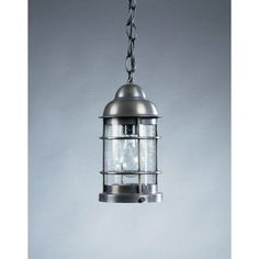 Northeast Lantern Nautical 1 Light Outdoor Hanging Lantern Finish: Dark Antique Brass, Shade Type: Clear Seedy