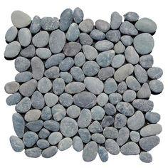 black pebble tile beyond tile 1