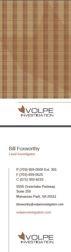 Plaid Business Card F.