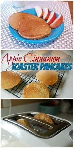 Apple Cinnamon Toaster Pancakes || 100% whole grain, perfect for busy mornings