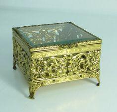 Vintage Floral Filigree jewelry box by AustinModern #BrandAmbassador #MySweepstakesCity #convann2