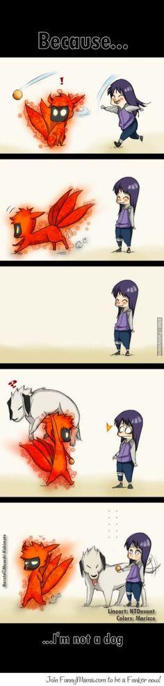 Because... I'm not a dog. Hinata and Naruto
