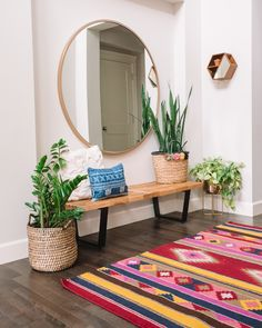 The entryway is not only a functional space but also the first impression inside the home... Sharing our entryway decor reveal with Home Depot.