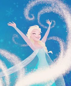 Elsa - Frozen. I love her so much