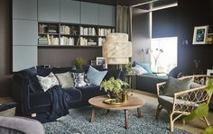 A stylist's living room: Åsa's take on modern eclectic harmony