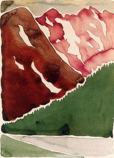Georgia O'Keeffe - Untitled (Long Lake), 1916.