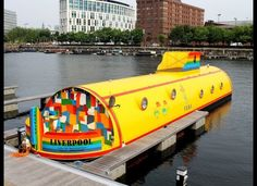 Yellow Submarine Hotel Liverpool, England England Uk, Liverpool England, Unusual Hotels, Joker, Hotel Architecture, Cool Boats, Narrowboat, Hotel Reservations, Yellow Submarine