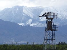 """view of the local mountains from Redlands, California.   The """"R"""" on the mountain is for the University of Redlands.  The old wind mill was used in the orange groves during the winter nights to keep the oranges from being frozen.  The heritage of this valley is so interesting and beautiful.  Enjoy!  photo by R photography."""
