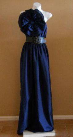 VINTAGE HARAH NAVY BLUE MAXI PARTY EVENING/ DAY cocktail DRESS 6-8-10-12-14-16