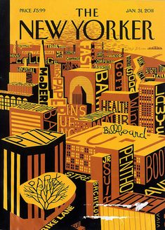 Lettering on the cover of The New Yorker