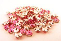 Vintage Swarovski Rose Montees Sew On Rhinestones Pink by www.Supplize.etsy.com, $20.00