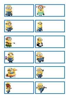 Minions Labels #scrapbookprintouts