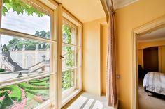 A room with a view to baroque Vrtba garden at Aria Hotel Prague Aria Rooms, Prague, Baroque, Free Images, Windows, Luxury, Garden, Garten, Lawn And Garden
