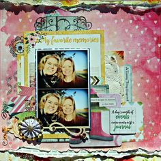 Dance in the Rain Scrapbook Page featuring Calendar Girl Collection by BoBunny designed by Rhonda Van Ginkel. #BoBunny @snapwhiz