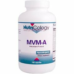 Nutricology Mvm-a Antioxidant Protocol Vegicaps, 180-Count by Nutricology. $13.09. It?s a dietary supplement.. Multiple vitamin and mineral formula with additional nutrients featuring acetyl-L-carnitine for antioxidant support.. Coenzyme Q10 is a necessary component of cellular energy production and respiration.. Multiple vitamin and mineral formula with additional nutrients featuring acetyl-L-carnitine for antioxidant support. Developed by Martin Pall, Ph.D. and NutriCology...