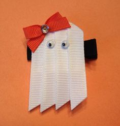 Ghost Hair Clip or Lapel Pin by KatiebugBows on Etsy, $4.00