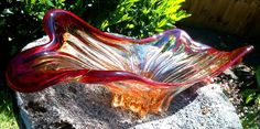 #Murano #Italy #Ruby #Red & Orange #MCM #Vintage #Retro Art Glass Sculptural with #Uranium / #Vaseline #Sold by #seraphimslair See my #Etsy, #eBay, #Twitter, #Facebook & #Instagram for an array of beautiful #art #glass, #collectibles & #gift ideas! https://www.ebay.co.uk/usr/seraphimslair2 https://twitter.com/Seraphimslair https://www.instagram.com/seraphimslair5stars/ https://www.etsy.com/uk/shop/seraphimslair https://www.facebook.com/seraphimslair/ #USA #UK #JAPAN #CHINA #AUSTRALIA #ASIA
