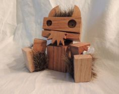 Wooden Viking Robot