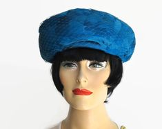 Vintage blue feather hat with deep turned up brim, blue net, blue satin bow, fully lined, gorgeous color, open size, mid 20th century by CardCurios on Etsy Feather Hat, Blue Feather, Satin Bows, Blue Satin, Vintage Hats, Winter Hats, Trending Outfits, Unique Jewelry, Deep