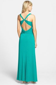 Front Knot Jersey Gown