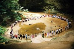 Wedding ceremony in a cave! Ash Cave at Hocking Hills State Park