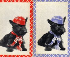 Vintage Playing Cards 1 pair Paper Epherema by YearningTree Vintage Playing Cards, Westies, Scottie, Aud, Pairs, Scrapbook, Unique Jewelry, Handmade Gifts, Dogs