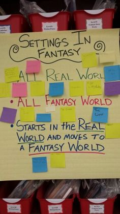 Fantasy setting writing workshop