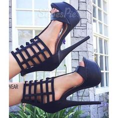 High Heel Sandals Women Sexy Shoes Open Toe Platform T Type Ankle Strap Sandal Shoes Sexy High Heels, Frauen In High Heels, Platform High Heels, High Heels Stilettos, High Heel Boots, Shoe Boots, Caged Heels, Stiletto Shoes, Shoes Heels