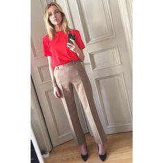 "15 Likes, 2 Comments - Hege Aurelie Badendyck (@hegeaurelie) on Instagram: ""Feeling them beige sharp pants 👋🏼"""