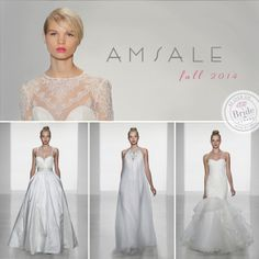 Amsale, Fall 2014 collection, as seen on http://www.bride.ca/wedding-dresses/?GownTypeID=1&GownLabelID=151