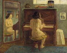 'Piano Trio' - John Sloan (1871-1951, American)