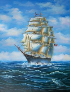 old world ship painting - Google Search
