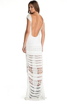 REVOLVEclothing  Nylon blend Partially lined Crochet lace fabric