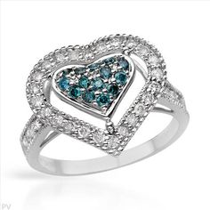 $479.00  Dazzling Brand New Heart Ring With 0.73ctw Genuine  Diamonds Well Made in White Gold- Size 7 We Can Resize from 6 to 8 - Certificate Available.
