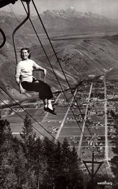 1956 Chair Lift Jackson Hole Wyoming