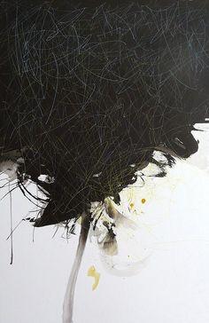 Silvia Cordero Vega, suspiro escondido en grito. ink and watercolour.  95 x 62 cm.  2010