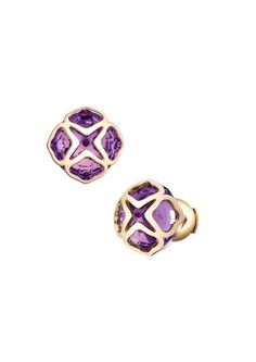 CHOPARD Imperiale Earrings   18-carat Pink Gold and Amethyst