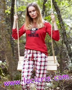 Pijama MAFALDA Mujer GISELA ROJO