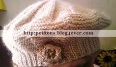 Béret femme - Tricot solidaire (avec explications) Knit Crochet, Crochet Hats, Beret, Couture, Baby Boy, Reusable Tote Bags, Beanie, Sewing, Knitting