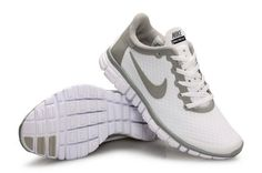 Now Buy Super Deals Buy Nike Free Women White Grey Save Up From Outlet Store at Footlocker. Grey Nike Running Shoes, Nike Shoes Blue, New Jordans Shoes, Nike Shoes Outfits, Blue Sneakers, Nike Free Shoes, Puma Shoes Online, Jordan Shoes Online, Nike Max